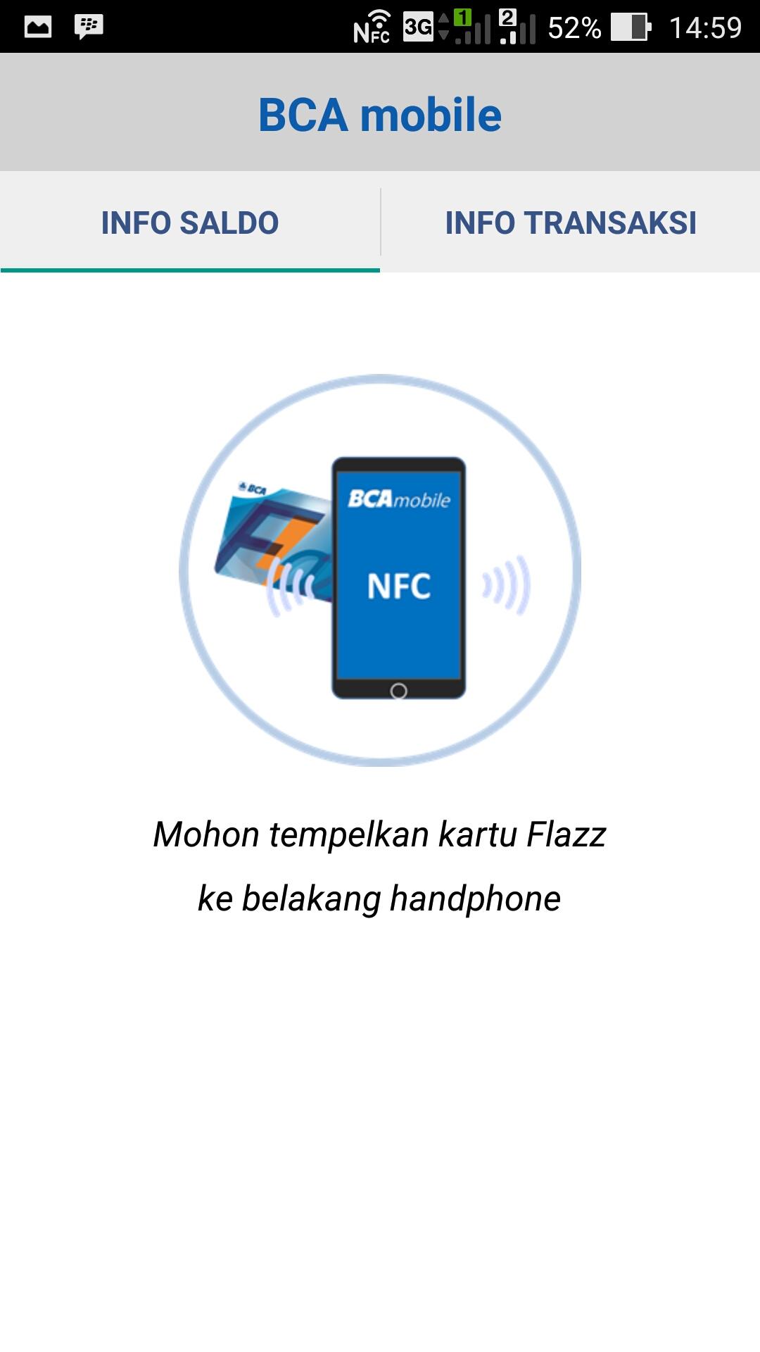 Cek Saldo Kartu Flazz Melalui Aplikasi Bca Mobile Di Asus Zenfone 2 Card Image